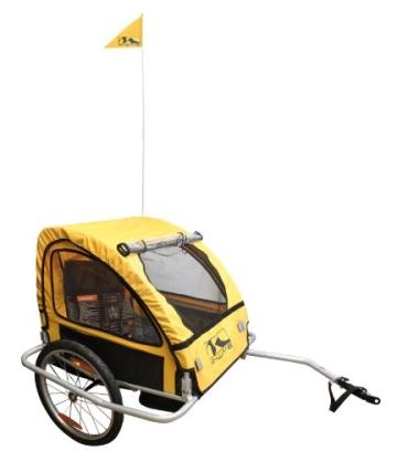M-Wave ALUMINIUM Kinder und Gepäck Fahrradanhänger